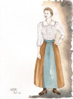 Cherry Orchard - Rendering of Anya Act 2