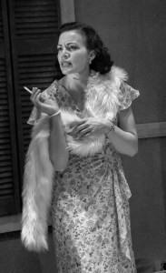 Faux wrap dress made from vintage silk. Blanche: A Streetcar Named Desire. Williams's Street Rep. Designer: myself.