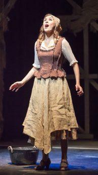 Boned, Mudcloth Bodice and Burlap Chick skirt for Cinderella, Xavier University.
