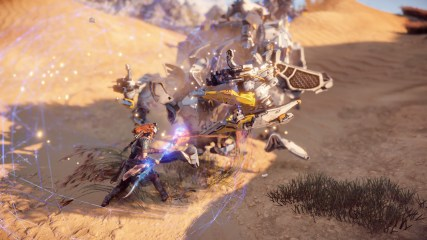 Aloy overriding a Trampler so that it won't attack her