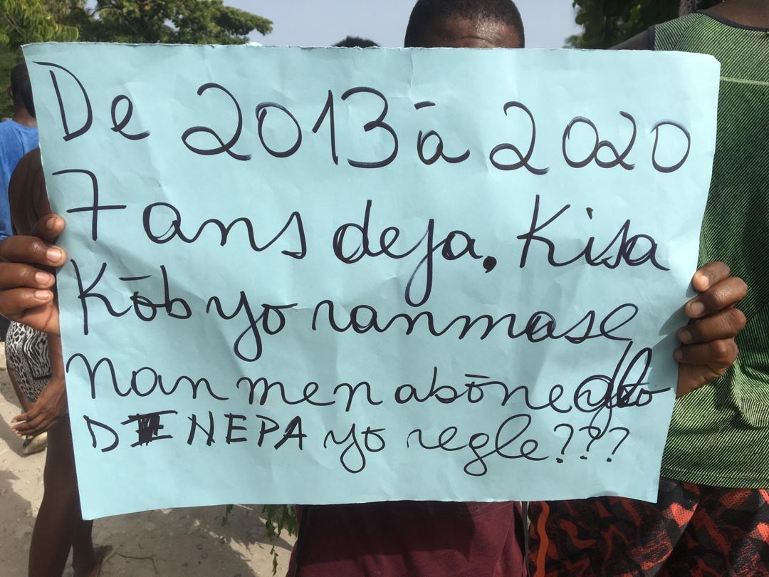 , Manifestation à Côtes-de-fer: la jeunesse cotiferoise dit Non à la corruption