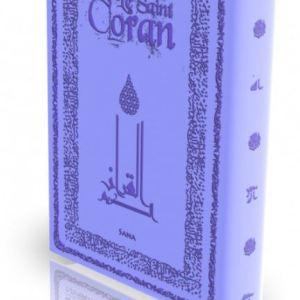 Livre : Le Saint Coran - Bleu Mave