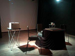 preparando el show