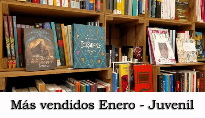 Libros más vendidos Enero - Juvenil