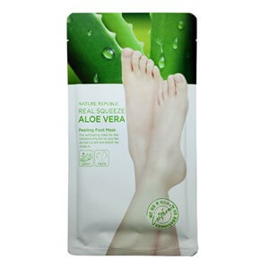 Пилинг-носочки для ног Nature Republic Real Squeeze Aloe Vera Peeling Foot Mask
