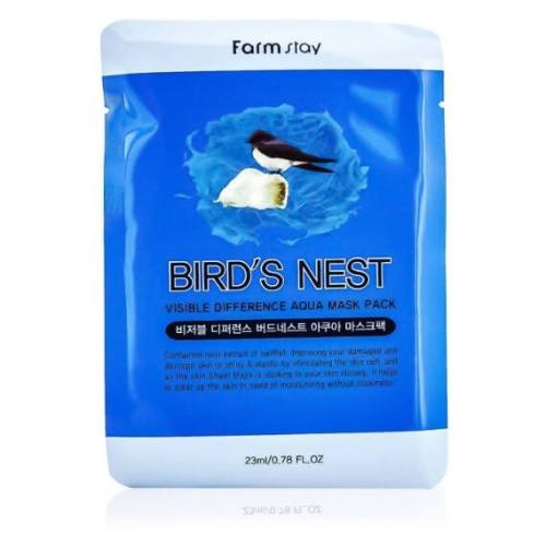 FARMSTAY VISIBLE DIFFERENCE MASK SHEET BIRD`S NEST