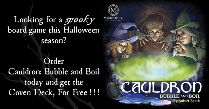 Get the Coven Deck expansion, FREE (with the purchase of the base game, a $13 savings) Limited Time Only!!!