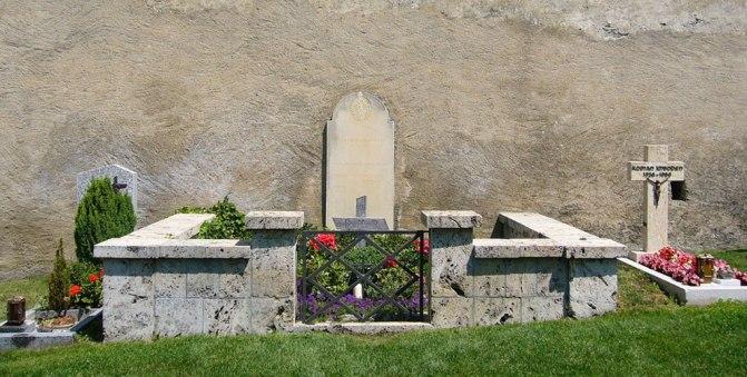 Das Grab von Rainer Maria Rilke in Raron