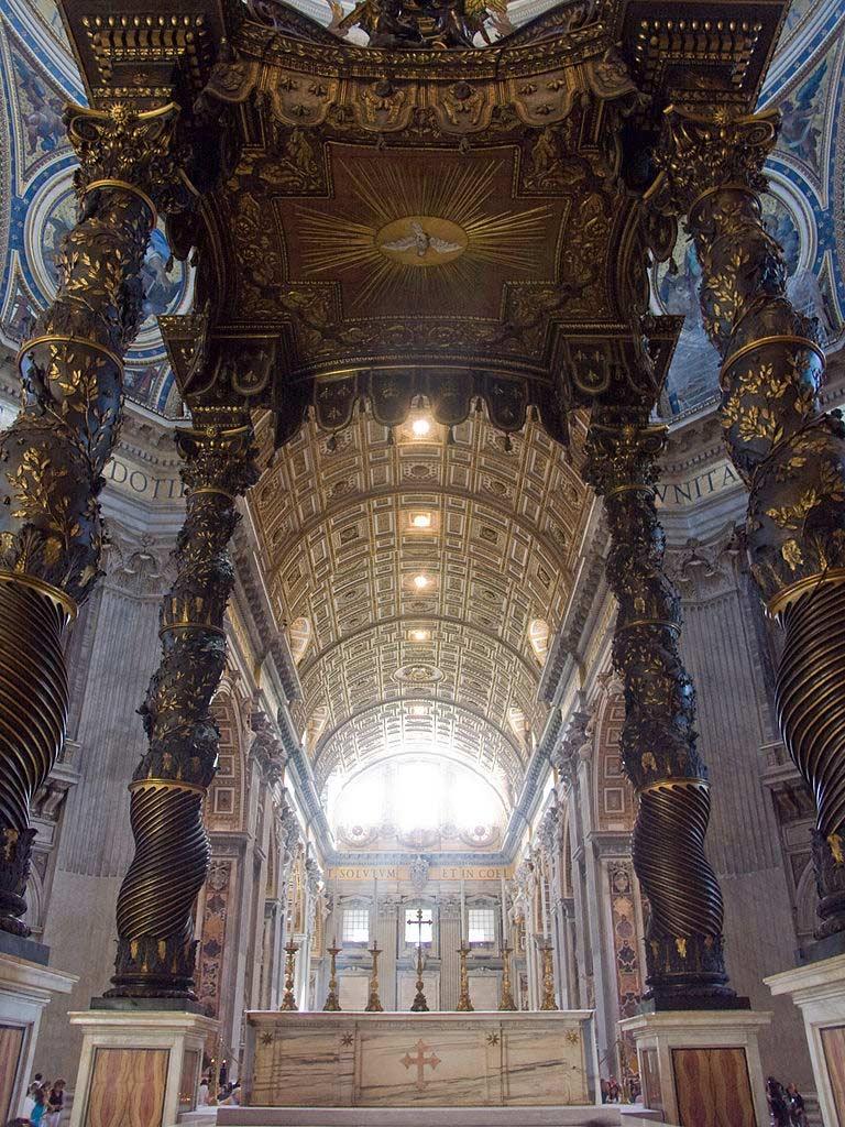 Petersdom Innenansicht - Vatikanstadt Rom