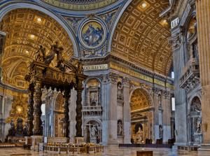 Petersdom Basilika innenansicht