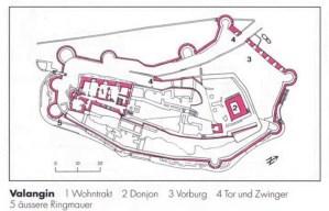 Schloss Valangin Grundriss