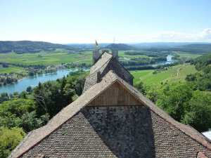 Burg Hohenklingen Aussicht nach Westen