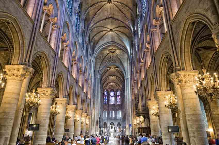Inside view - Notre-Dame de Paris