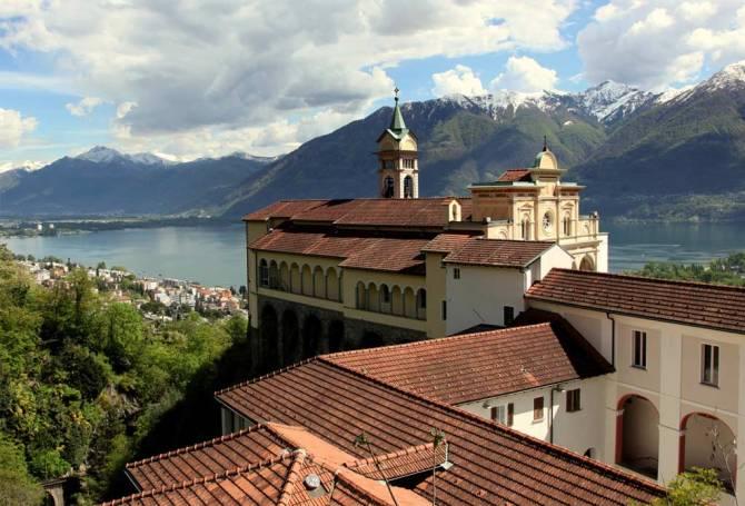 Kraftort Madonna del Sasso bei Locarno
