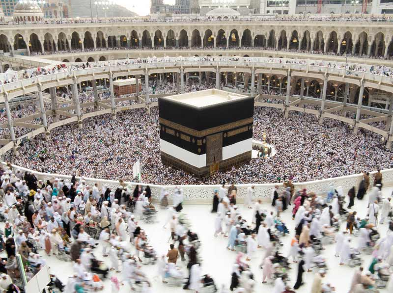 Die Kaaba wird nur zweimal im ahr geöffnet