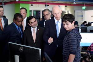 Florida Governor Rick Scott stops by MAGIC