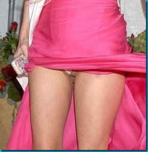 Paris Hilton's cameltoe is always there