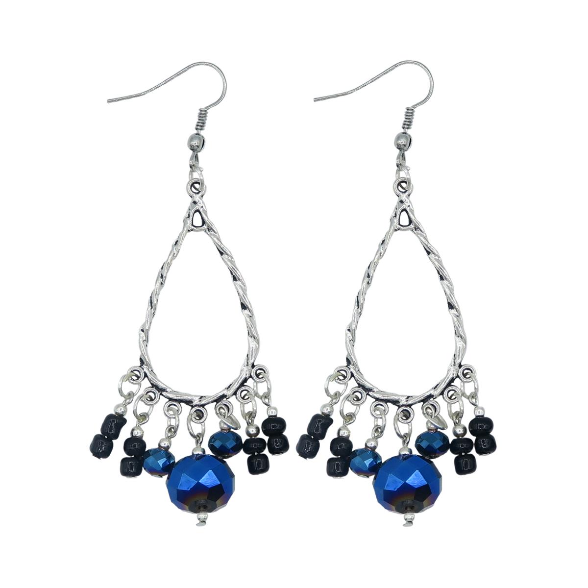 Drop Crystal Hanging Earring Sku