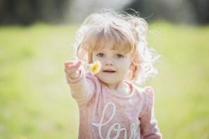 kids and dandelions, dandelion bread,