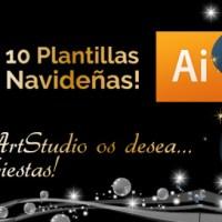 10 Plantillas Editables Felicitaciones y Postales de Navidad