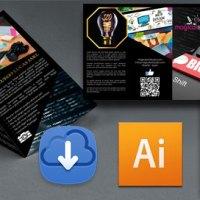 Descarga Gratis Plantilla Editable Diseño Tríptico en Illustrator