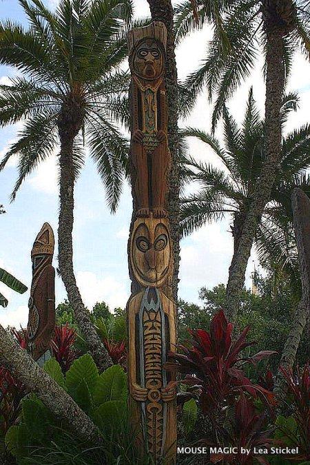 Adventureland totem poles