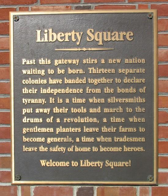 Liberty Square Plaque
