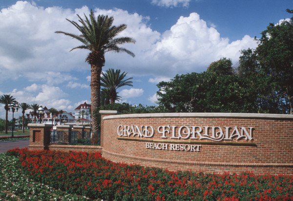 Grand Floridian Resort entry sign