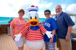 Meeting Donald onboard the Disney Fantasy