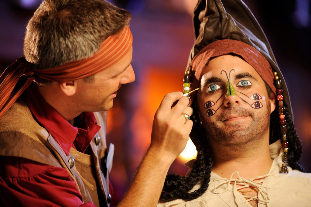 "Adult receiving the ""Multi-Eyed Jack"" - Photo by Kent Phillips / Disney"