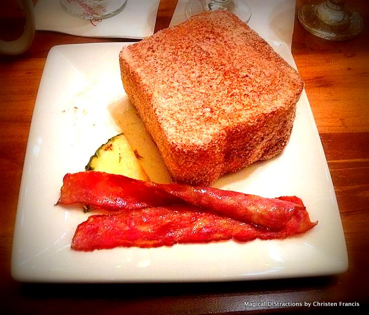 Tonga Toast with turkey bacon