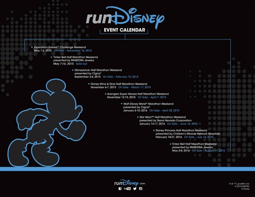 runDisney 2015-2016 Schedule