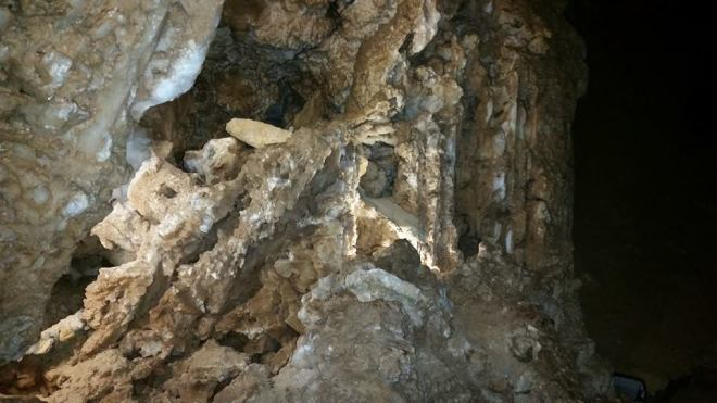 Rock formations inside the Carlsbad Caverns