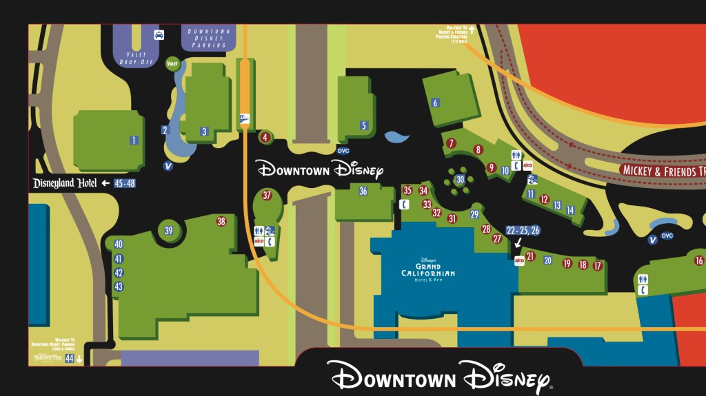 Downtown Disney District Map