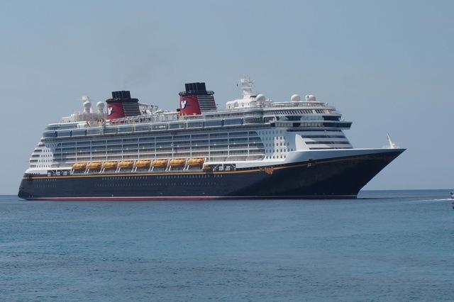 Fantasy anchored - Disney Cruise Lines