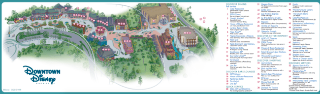 Downtown Disney® District Map