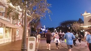 Running through Disneyland