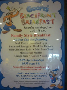 Disney's Vero Beach Resort Shutters Goofy's Beachfront Breakfast