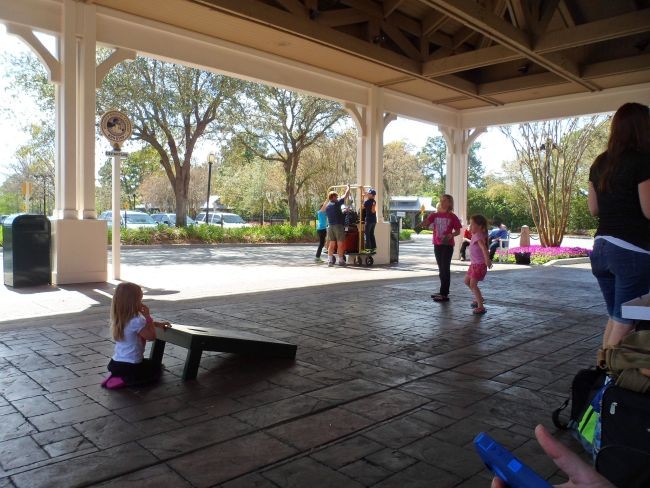 The waiting area for those taking Disney's Magical Express back to MCO