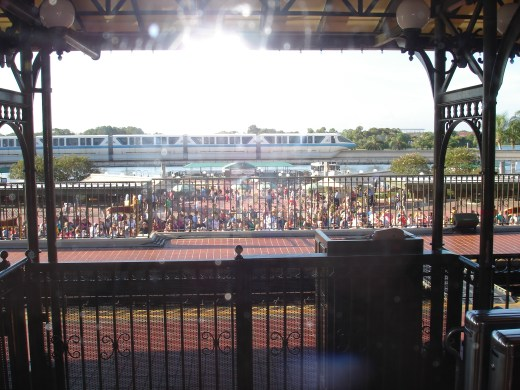 Magic Kingdom guests awaiting the Opening Ceremony