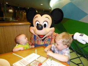 Farmer Mickey with 2 little boys