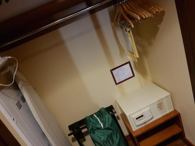 Closet, Ironing Board & Safe  - Photo by Rachel Horsley
