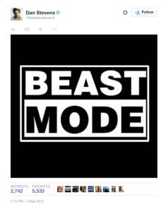 Dan Stevens Twitter confirmation