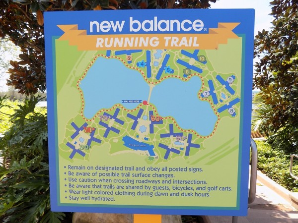 New Balance Running Trail around Pop Century Resort