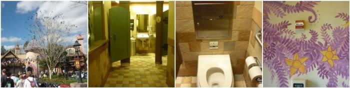 Magic Kingdom Park - Rapunzel-themed bathroom