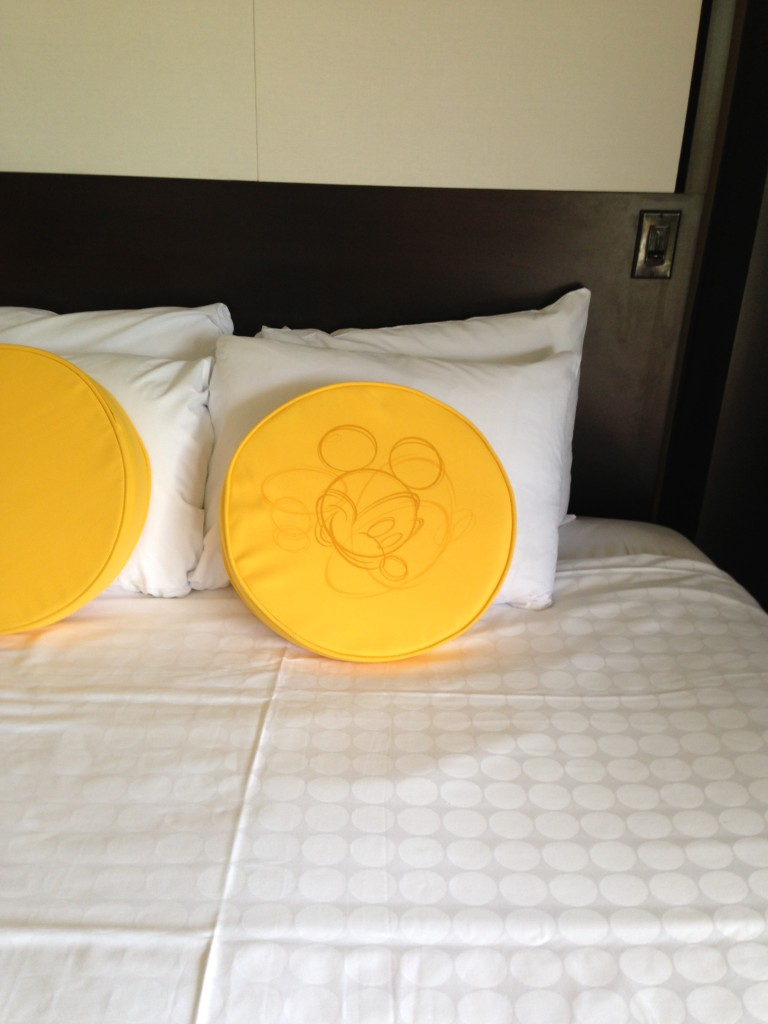 Mickey bed pillow at The Contemporary Resort