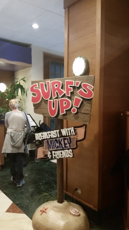 Character Breakfast Surf's Up! Paradise Pier Hotel