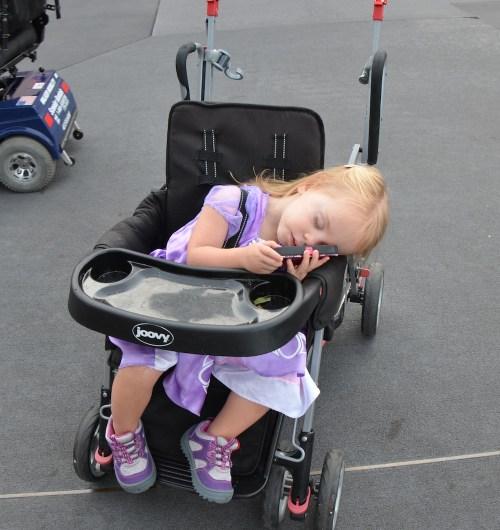 Baby Sleeping in Stroller