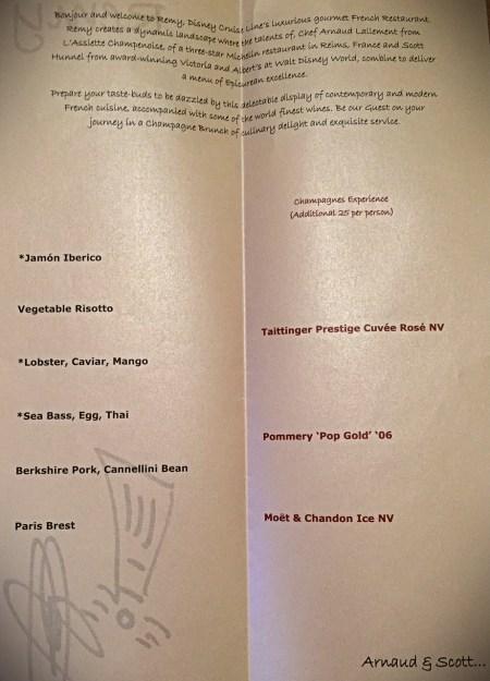 Remy Inside menu