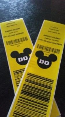 Disney's Magical Express luggage tags
